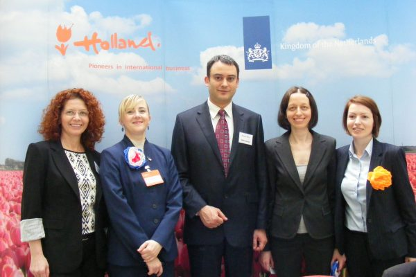FRD Center team during the Trade Mission from The Netherlands to Romania led by Minister Liliane Plouman in 2014