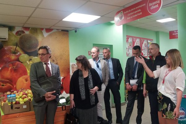 Store check for Dutch delegation in the Food Sector during the Trade Mission organised by FRD Center for the Royal Dutch Embassy in Romania