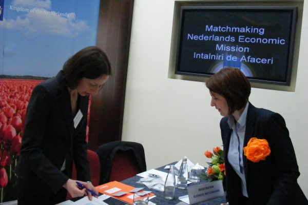 FRD Center team provides secretarial support during the Trade Mission from The Netherlands to Romania led by Minister Liliane Plouman in 2014