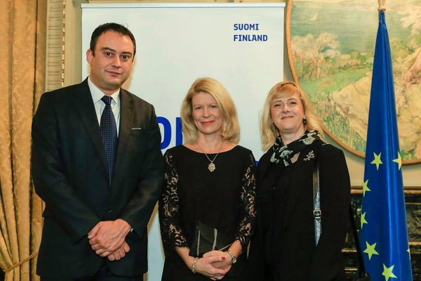 FRD Center Directors with H.E. Finnish Ambassador in Romania, Mrs. Paivi POHJANHEIMO