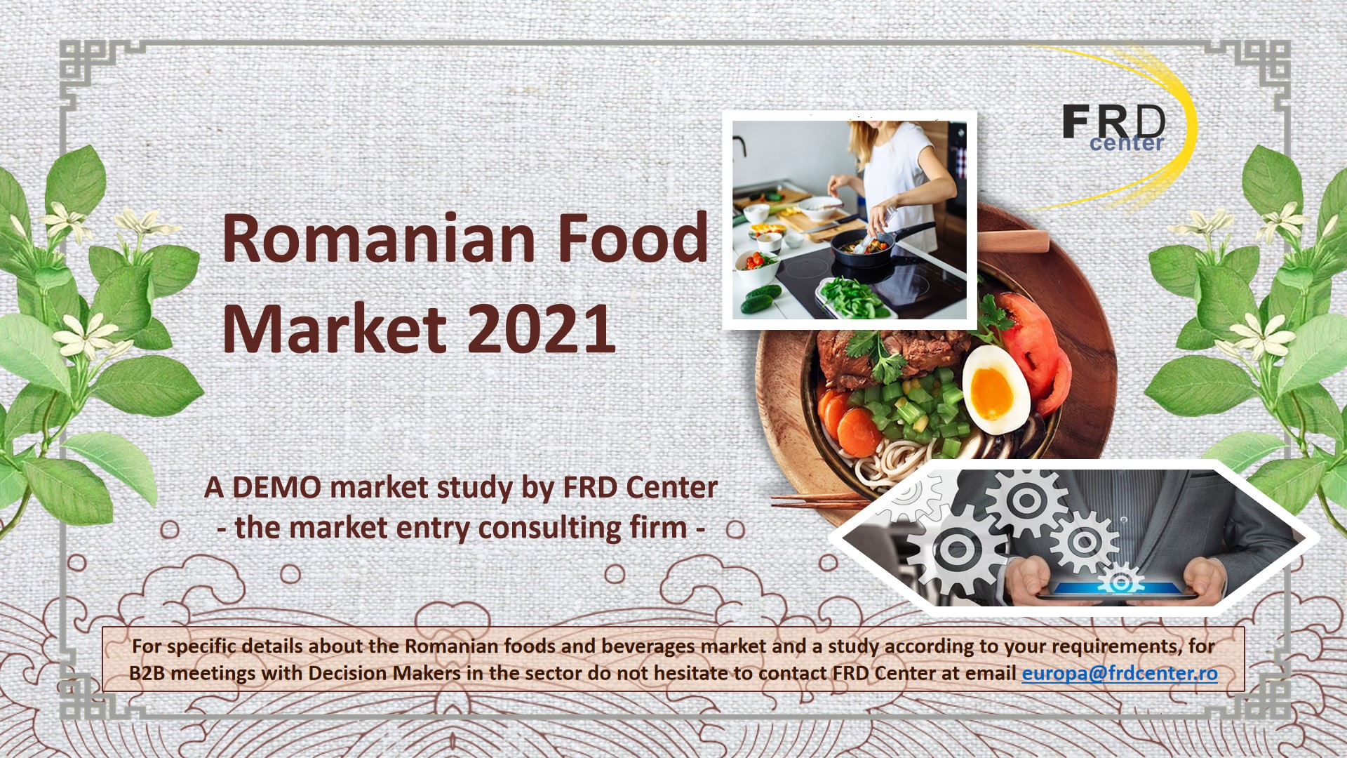 Romanian Food Market - potential new opportunities during the COVID19 pandemic